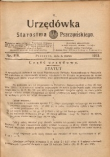Urzędówka Starostwa Pszczyńskiego, 1933, nr8/9