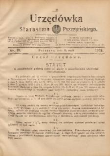 Urzędówka Starostwa Pszczyńskiego, 1933, nr19