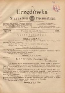 Urzędówka Starostwa Pszczyńskiego, 1933, nr28