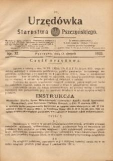 Urzędówka Starostwa Pszczyńskiego, 1933, nr32