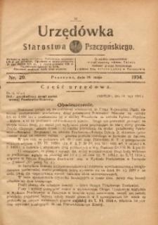 Urzędówka Starostwa Pszczyńskiego, 1934, nr20