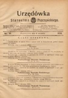 Urzędówka Starostwa Pszczyńskiego, 1934, nr36