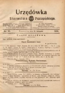 Urzędówka Starostwa Pszczyńskiego, 1934, nr45