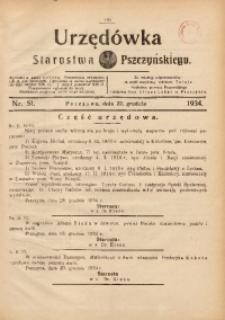 Urzędówka Starostwa Pszczyńskiego, 1934, nr51