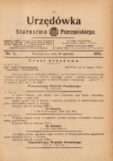 Urzędówka Starostwa Pszczyńskiego, 1935, nr4