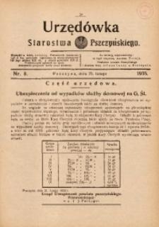 Urzędówka Starostwa Pszczyńskiego, 1935, nr8