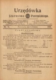 Urzędówka Starostwa Pszczyńskiego, 1935, nr14