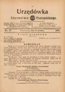 Urzędówka Starostwa Pszczyńskiego, 1935, nr37