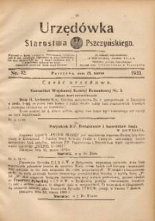 Urzędówka Starostwa Pszczyńskiego, 1933, nr12
