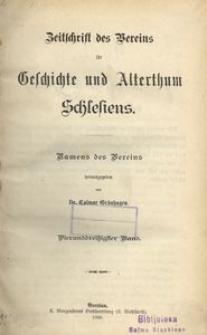 Zeitschrift des Vereins für Geschichte und Alterthum Schlesiens. Namens des Vereins, 1900, Bd. 34