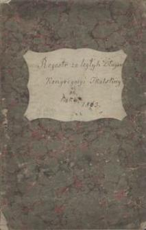 Regestr zaległych Długów Kongregacyi Tkalskiey od roku 1863