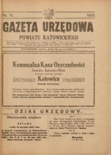 Gazeta Urzędowa Powiatu Katowickiego, 1929, nr11