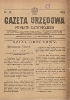 Gazeta Urzędowa Powiatu Katowickiego, 1929, nr48