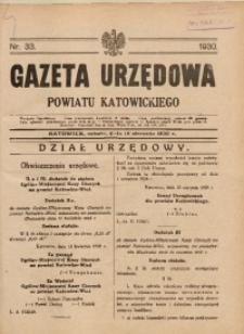 Gazeta Urzędowa Powiatu Katowickiego, 1930, nr33