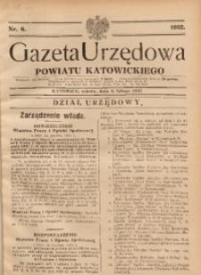 Gazeta Urzędowa Powiatu Katowickiego, 1932, nr6