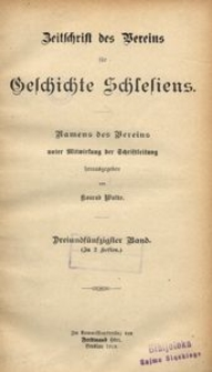 Zeitschrift des Vereins für Geschichte Schlesiens, 1919, Bd. 53
