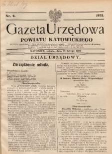 Gazeta Urzędowa Powiatu Katowickiego, 1932, nr9