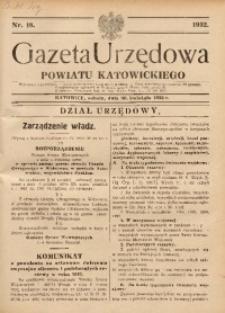 Gazeta Urzędowa Powiatu Katowickiego, 1932, nr18