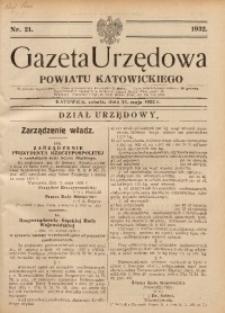 Gazeta Urzędowa Powiatu Katowickiego, 1932, nr21
