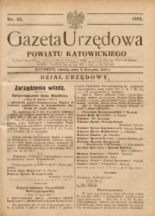 Gazeta Urzędowa Powiatu Katowickiego, 1932, nr32