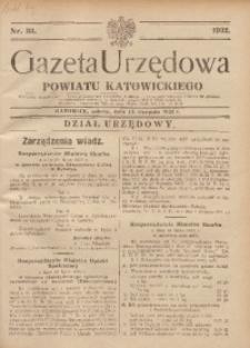 Gazeta Urzędowa Powiatu Katowickiego, 1932, nr33