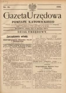 Gazeta Urzędowa Powiatu Katowickiego, 1932, nr35