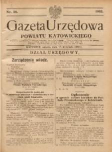 Gazeta Urzędowa Powiatu Katowickiego, 1932, nr38
