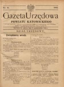 Gazeta Urzędowa Powiatu Katowickiego, 1932, nr41