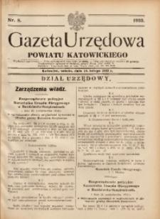 Gazeta Urzędowa Powiatu Katowickiego, 1933, nr8