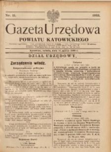 Gazeta Urzędowa Powiatu Katowickiego, 1933, nr11