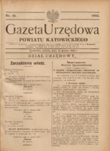 Gazeta Urzędowa Powiatu Katowickiego, 1933, nr12