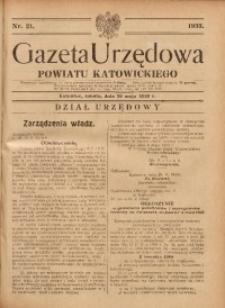 Gazeta Urzędowa Powiatu Katowickiego, 1933, nr21