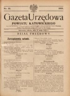 Gazeta Urzędowa Powiatu Katowickiego, 1933, nr22