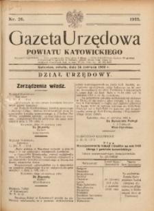 Gazeta Urzędowa Powiatu Katowickiego, 1933, nr26