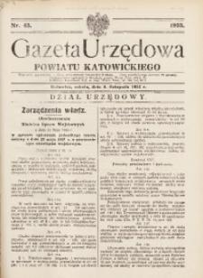 Gazeta Urzędowa Powiatu Katowickiego, 1933, nr45