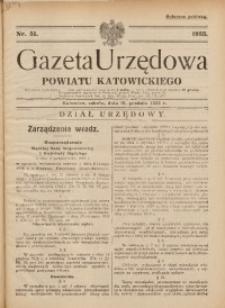 Gazeta Urzędowa Powiatu Katowickiego, 1933, nr51