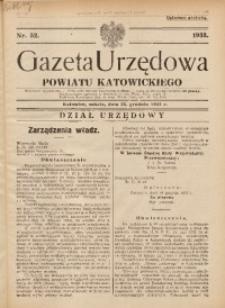 Gazeta Urzędowa Powiatu Katowickiego, 1933, nr52
