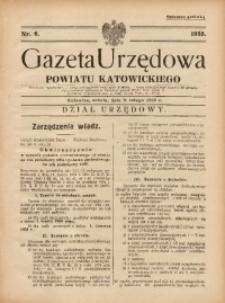 Gazeta Urzędowa Powiatu Katowickiego, 1935, nr6