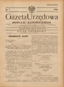 Gazeta Urzędowa Powiatu Katowickiego, 1935, nr7