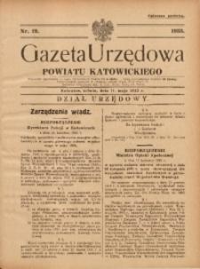 Gazeta Urzędowa Powiatu Katowickiego, 1935, nr19
