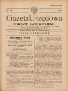 Gazeta Urzędowa Powiatu Katowickiego, 1935, nr24