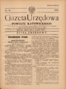 Gazeta Urzędowa Powiatu Katowickiego, 1935, nr31