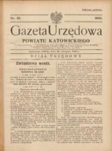 Gazeta Urzędowa Powiatu Katowickiego, 1935, nr35