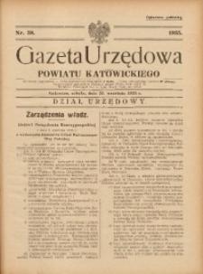 Gazeta Urzędowa Powiatu Katowickiego, 1935, nr38