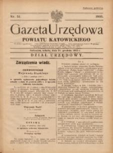 Gazeta Urzędowa Powiatu Katowickiego, 1935, nr51