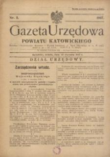 Gazeta Urzędowa Powiatu Katowickiego, 1937, nr2