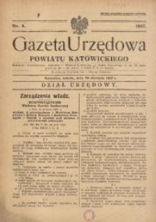 Gazeta Urzędowa Powiatu Katowickiego, 1937, nr4