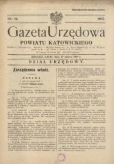 Gazeta Urzędowa Powiatu Katowickiego, 1937, nr12