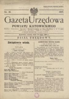 Gazeta Urzędowa Powiatu Katowickiego, 1937, nr19