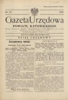 Gazeta Urzędowa Powiatu Katowickiego, 1937, nr27